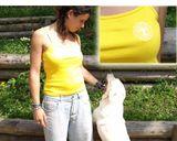 Dámsky letný top s výšivkou - žltý