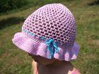 Ručne háčkovaný detský klobúčik - vzor č. 1