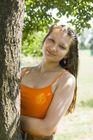 Dámsky letný top s výšivkou - oranžový